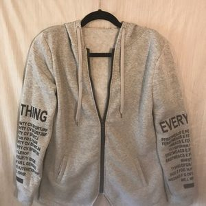 """""""EVERYTHING"""" ZipFront Hoodie  Sz: M-L"""